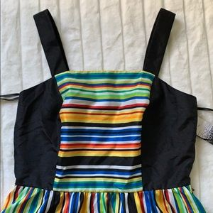 Kensie multicolored dress with full skirt